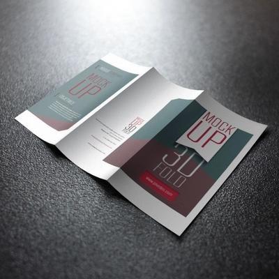 三折页印刷 157g铜版纸双面印刷